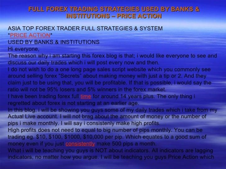 Forex strategies of banks