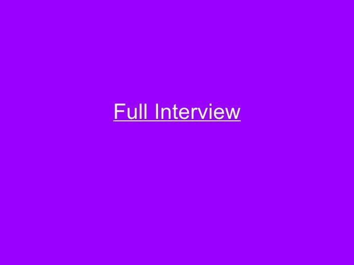 Full Interview