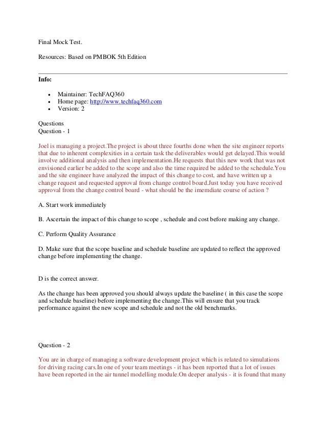 PMP 1600 Questions by TechFAQ360