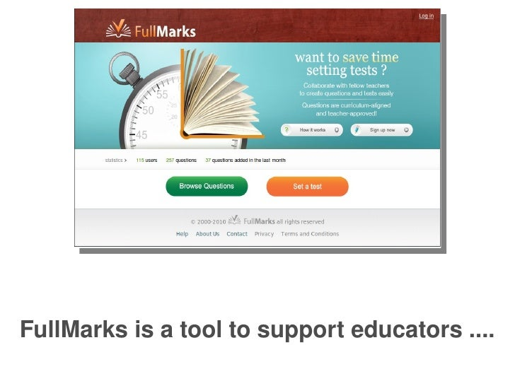 FullMarks is a tool to support educators ....
