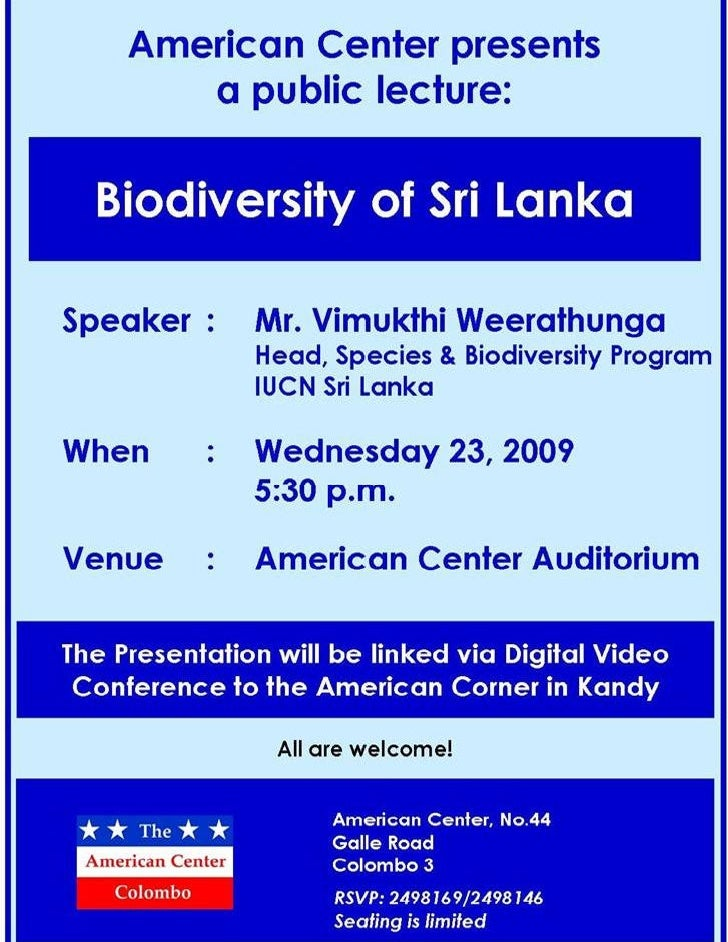 Bio Diversity of Sri Lanka
