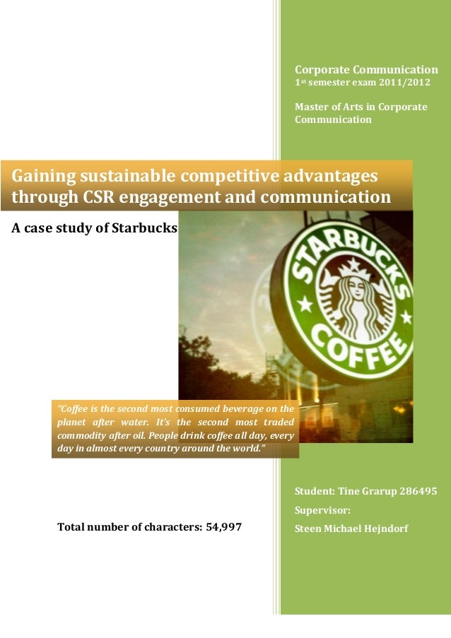 Gaining sustainable competitive advantages through CSR engagement and communication