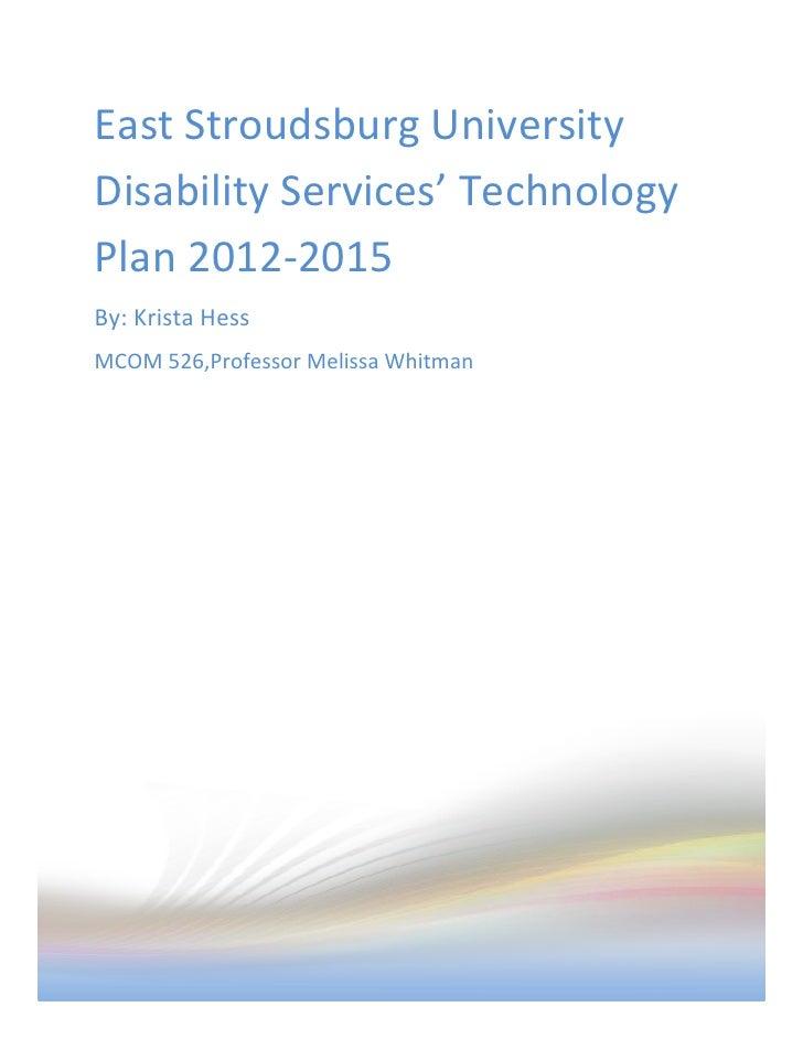 Instructional Technology Plan
