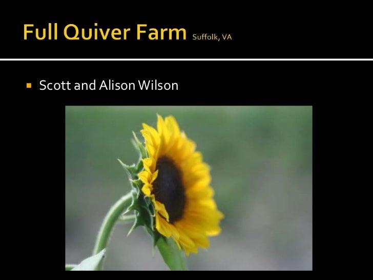    Scott and Alison Wilson