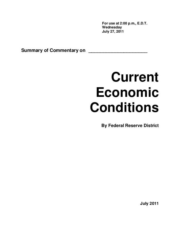 Federal Reserve July 2011 Beige Book