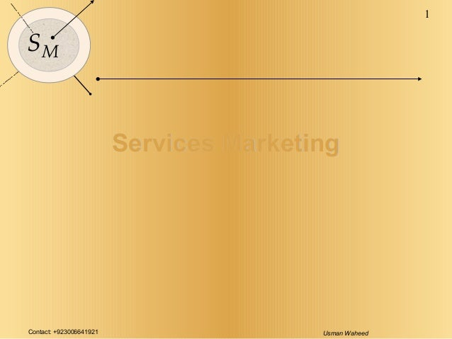 Contact: +923006641921 Usman Waheed 1 SM Services MarketingServices Marketing
