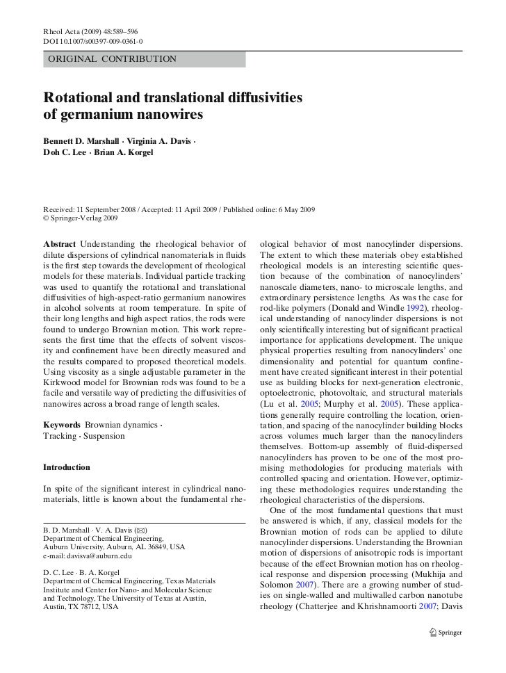 Brownian Motion Publication