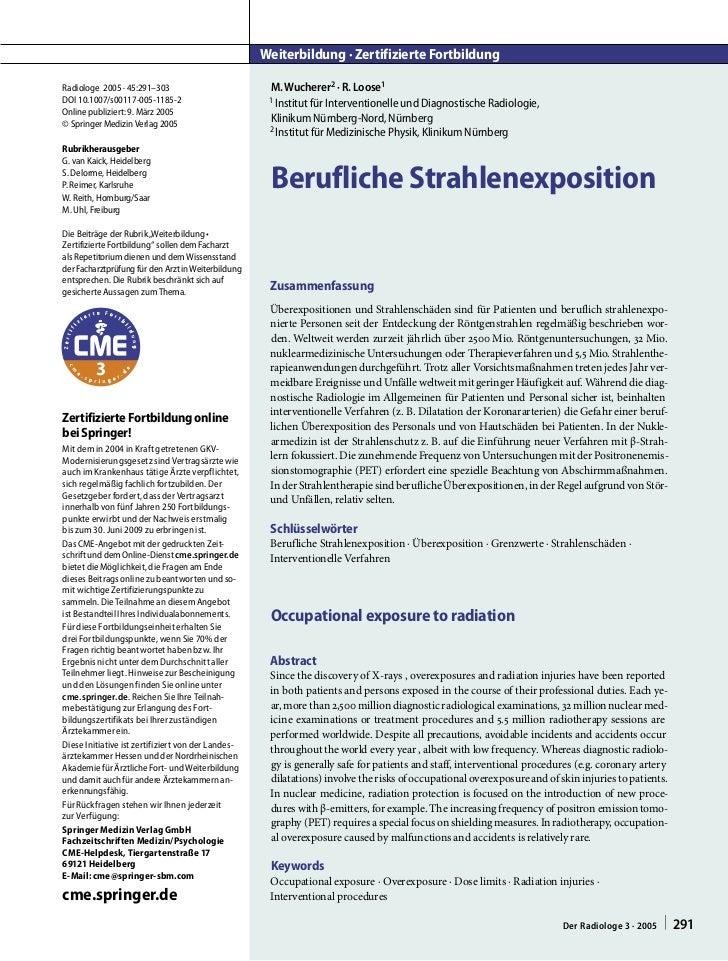 Weiterbildung · Zertifizierte FortbildungRadiologe 2005 · 45:291–303                          M. Wucherer2 · R. Loose1DOI ...