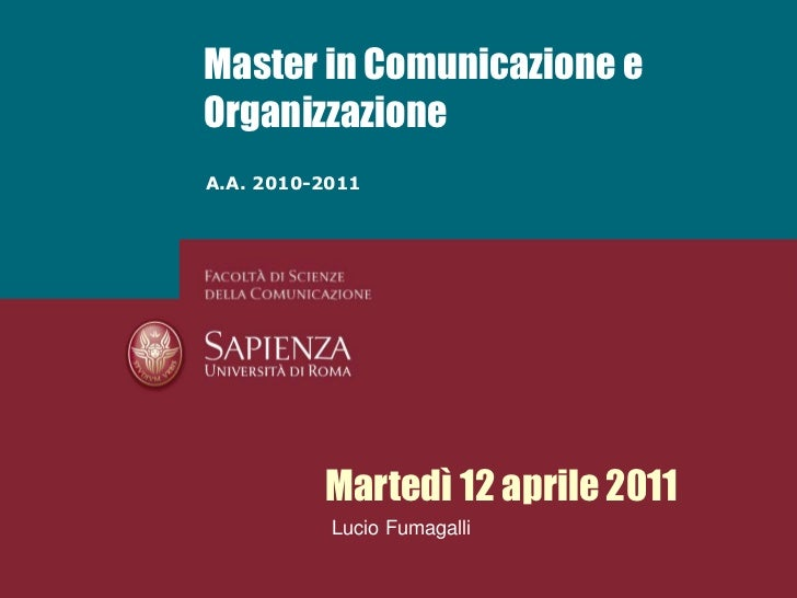 Fumagalli - Change Management - 12 aprile 2011