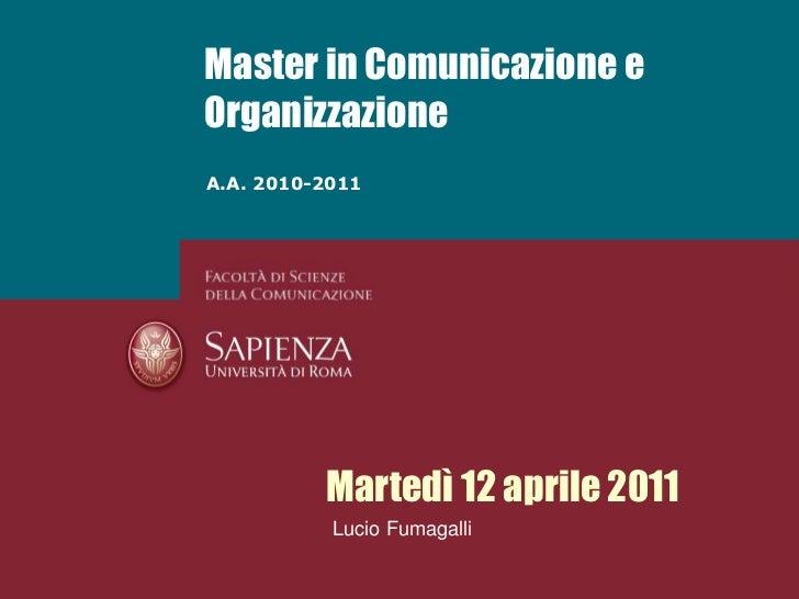 Fumagalli   change management - 12 aprile 2011