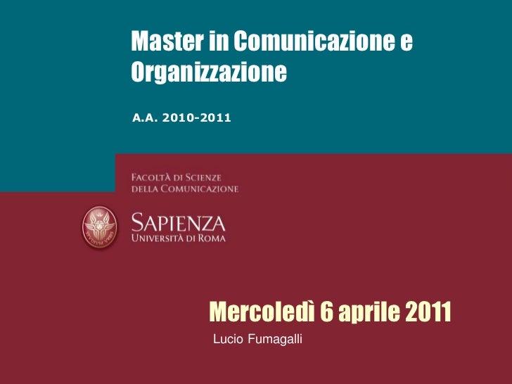 Fumagalli - Le metafore organizzative - 6 aprile 2011