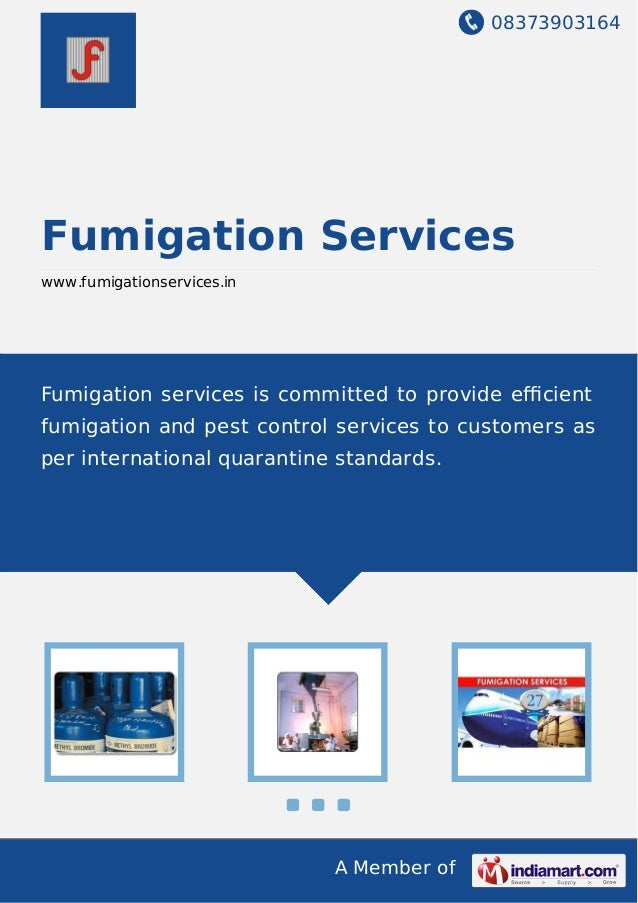 08373903164 A Member of Fumigation Services www.fumigationservices.in Fumigation services is committed to provide efficient ...