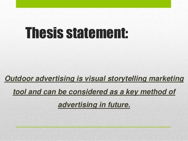 thesis statement on storytelling