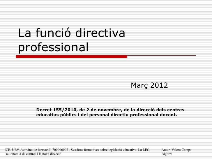 Funció directiva professional 26 02