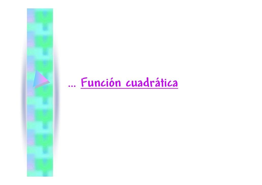 función cuádratica