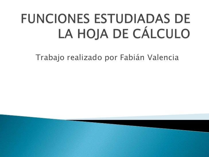 funciones hoja de calculo: