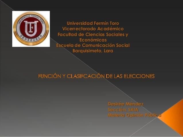 Universidad Fermín Toro Vicerrectorado Académico Facultad de Ciencias Sociales y Económicas Escuela de Comunicación Social...