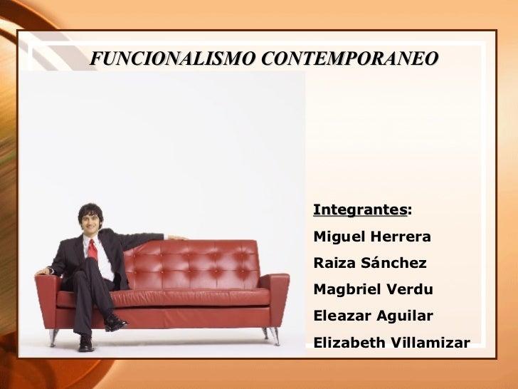Funcionalismo Comtenporaneo
