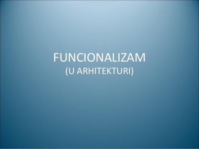 Funcionalizam 111