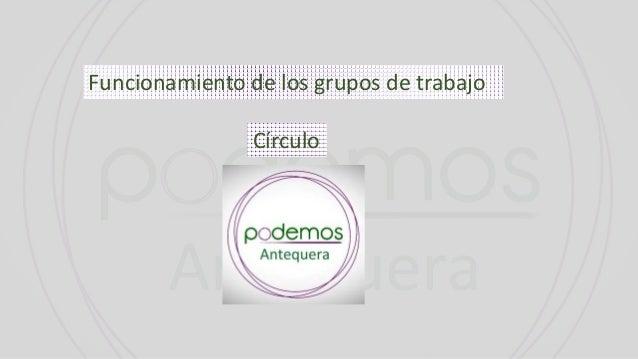 Funcionamiento de los grupos de trabajo Círculo