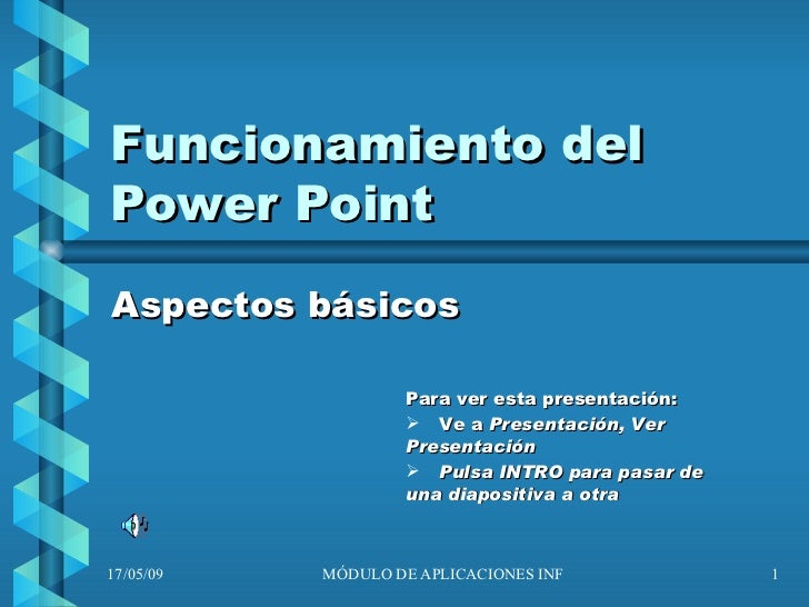 Funcionamiento Del Power Point