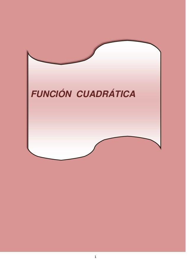 1FUNCIÓN CUADRÁTICA