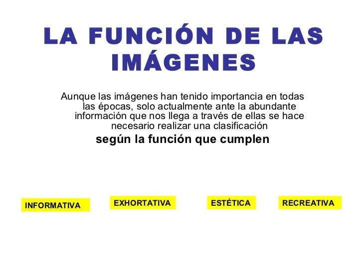 Función de las imágenes