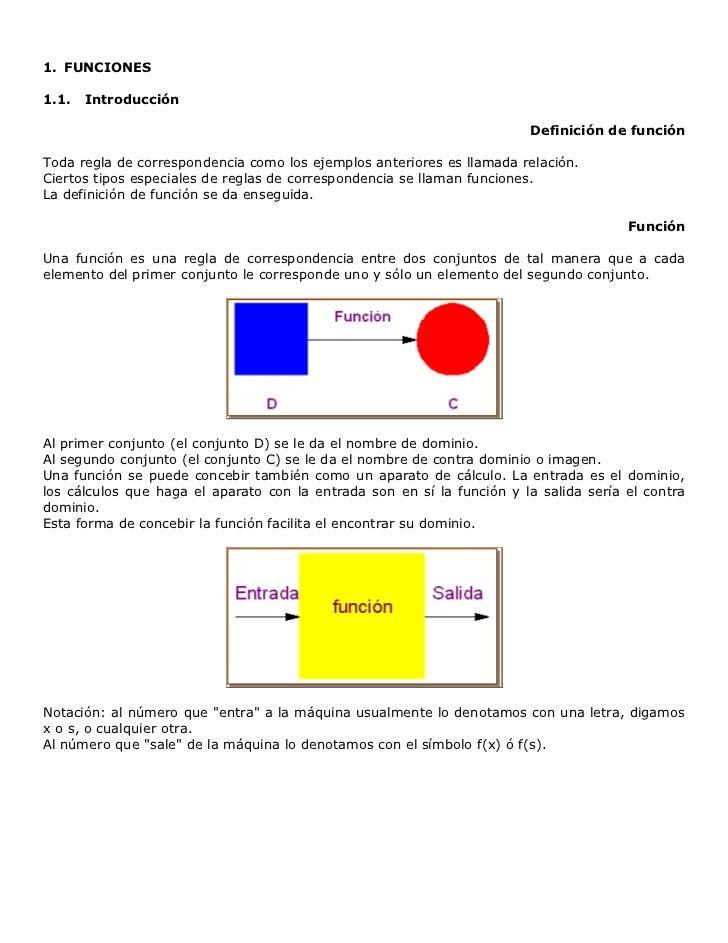 FUNCIONES<br />Introducción<br />Definición de función<br />Toda regla de correspondencia como los ejemplos anteriores es ...