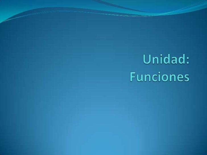 Unidad:Funciones<br />