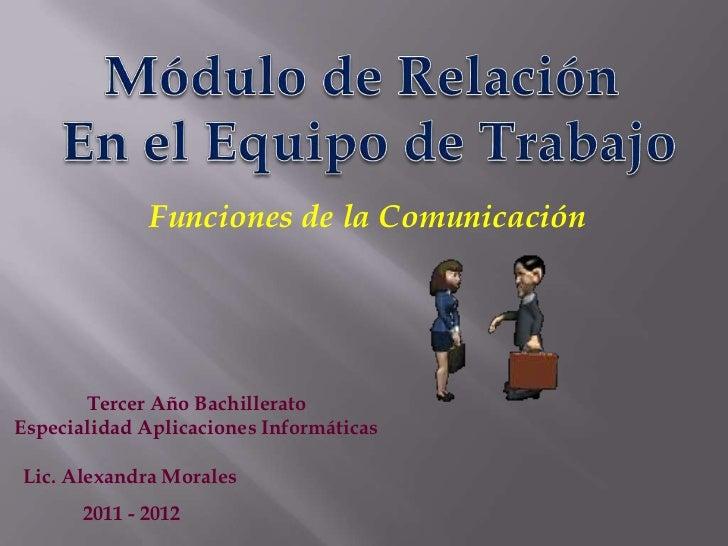 Funciones comunicación