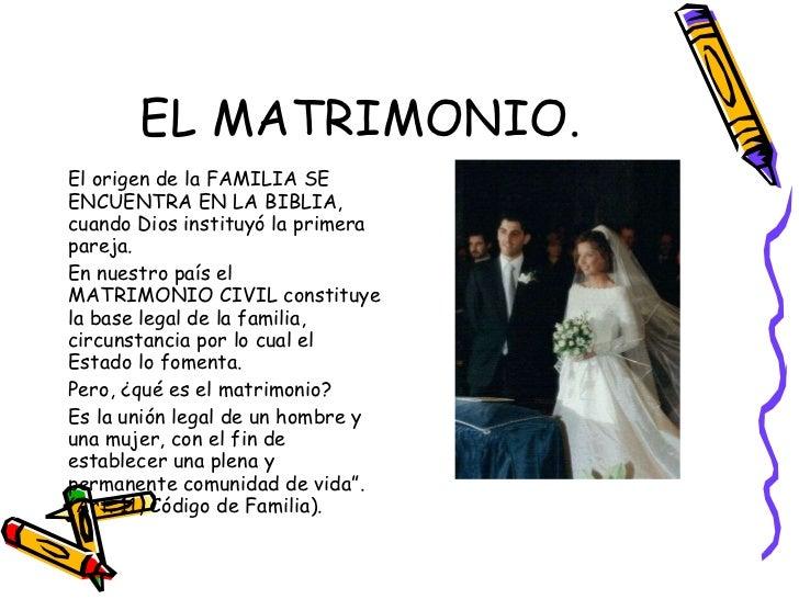 Matrimonio Civil Biblia : Funciones de la familia