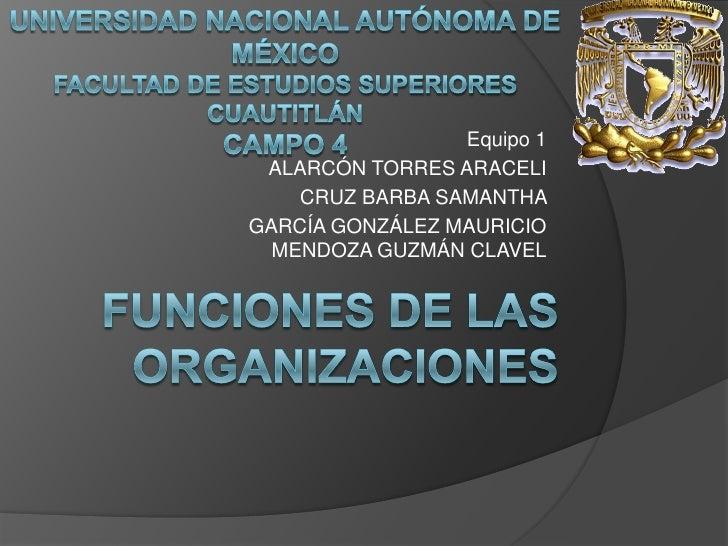 Funciones de las organizaciones