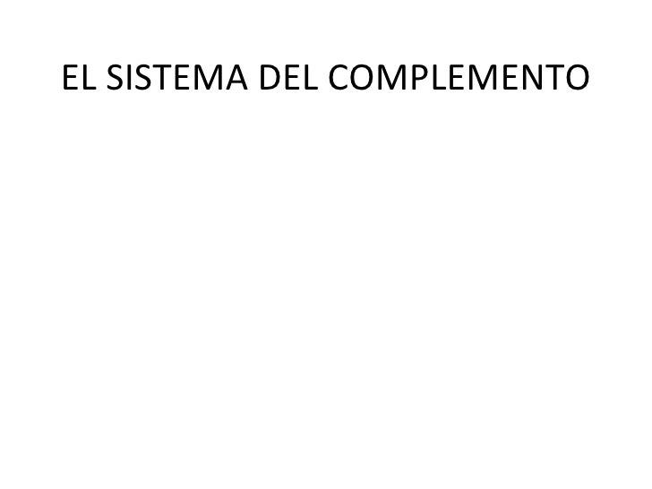 EL SISTEMA DEL COMPLEMENTO