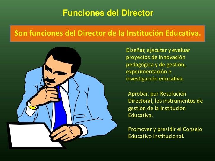 Trabajo de campo funciones del director for Funcion de un vivero escolar
