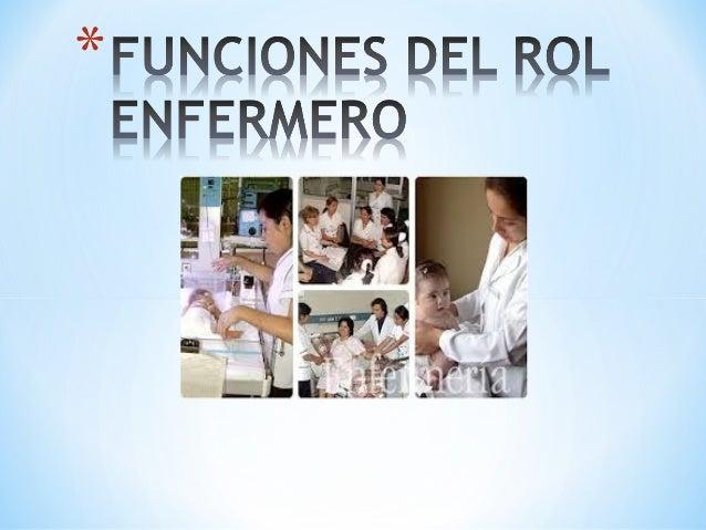 Funciones del rol enfermero