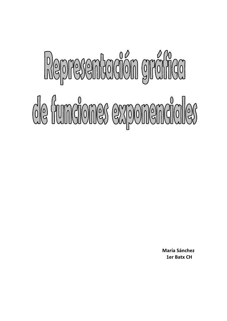 Representación gráfica de funciones exponenciales
