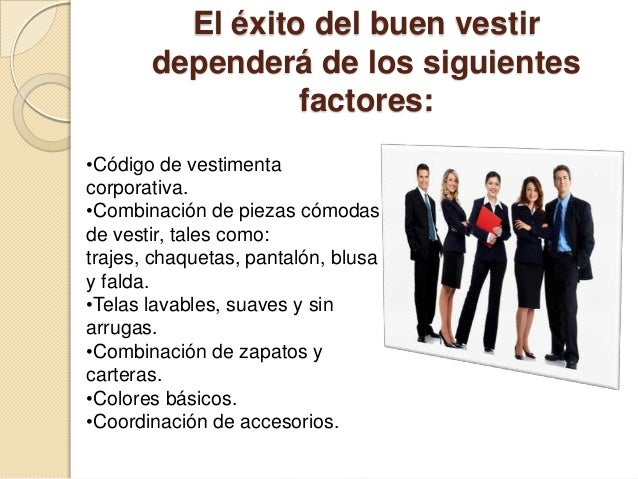 Funciones imagen de xito y vestimenta profesional for Codigo de oficina