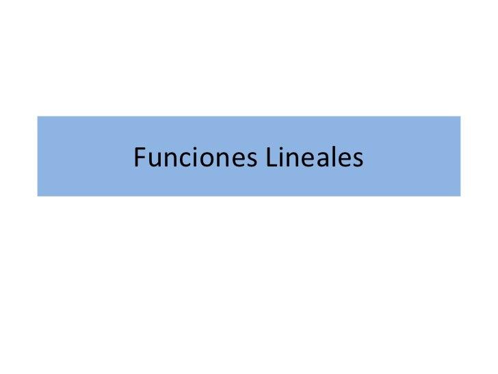 Funciones lineales