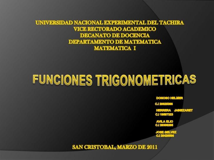 UNIVERSIDAD NACIONAL EXPERIMENTAL DEL TACHIRA<br />VICE RECTORADO ACADEMICO<br />DECANATO DE DOCENCIA<br />DEPARTAMENTO DE...