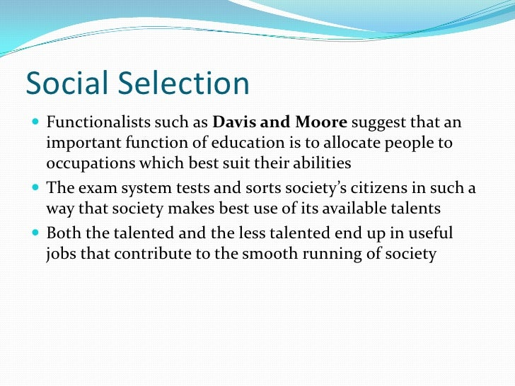 the davis-moore thesis states that quizlet