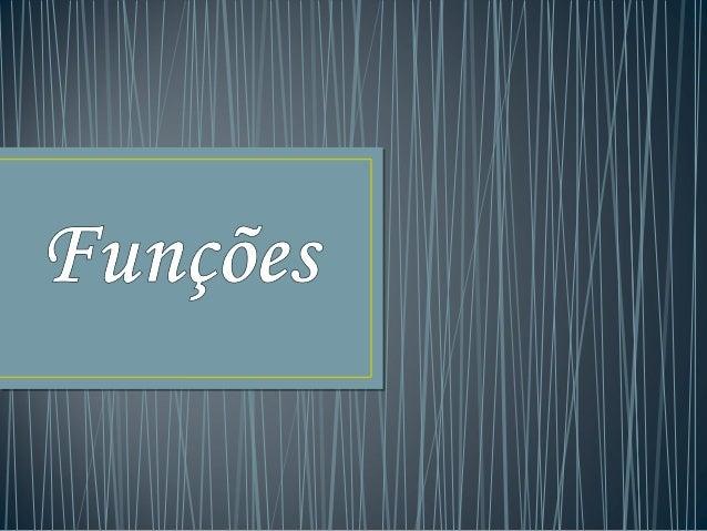 Uma função é uma correspondência unívoca entre dois conjuntos (o conjunto de partida e o conjunto de chegada). Uma corresp...