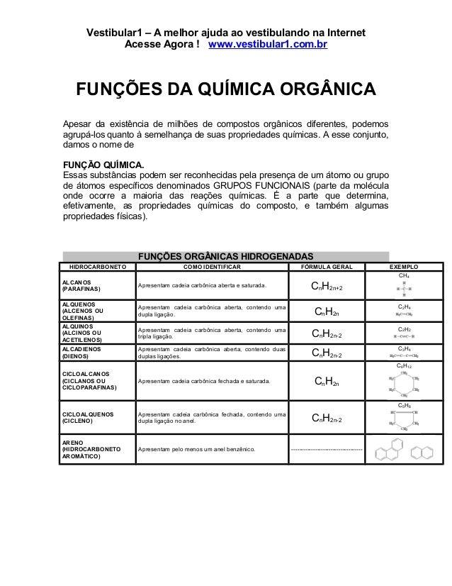 Funcoes quimica organica