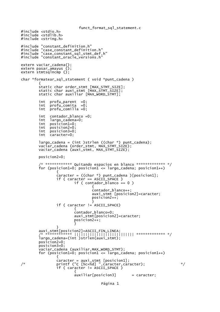 Funct format sql_statement.c