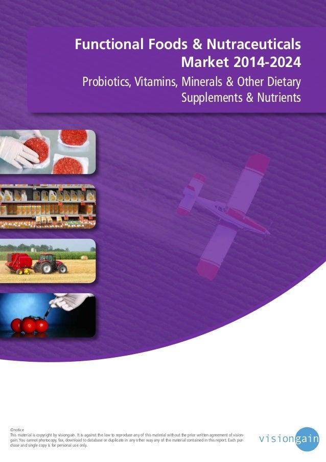 Functional Foods & Nutraceuticals Market 2014-2024 Probiotics, Vitamins, Minerals & Other Dietary Supplements & Nutrients ...