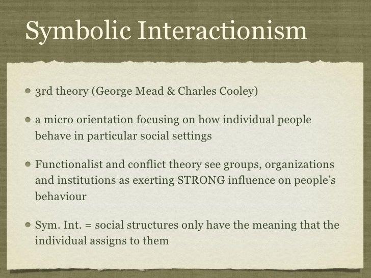Symbolic Interactionism Essay