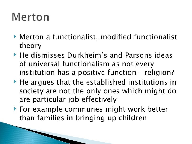 functionalist view of religion essay