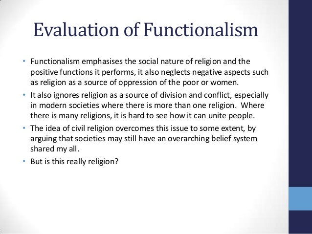 functionalist views on religion