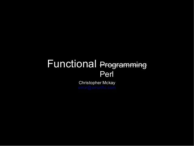 Functional perl