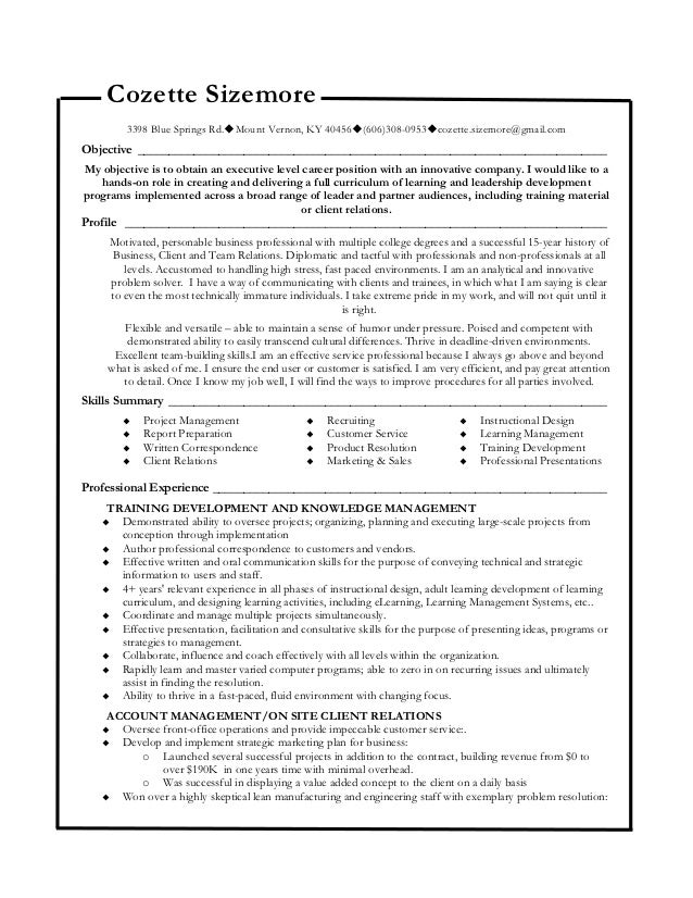Functional resume Functional resume. Cozette Sizemore 3398 Blue Springs Rd.Mount Vernon, KY 40456(606 ...