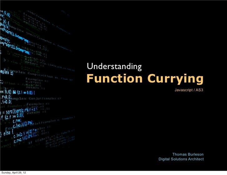 Function currying